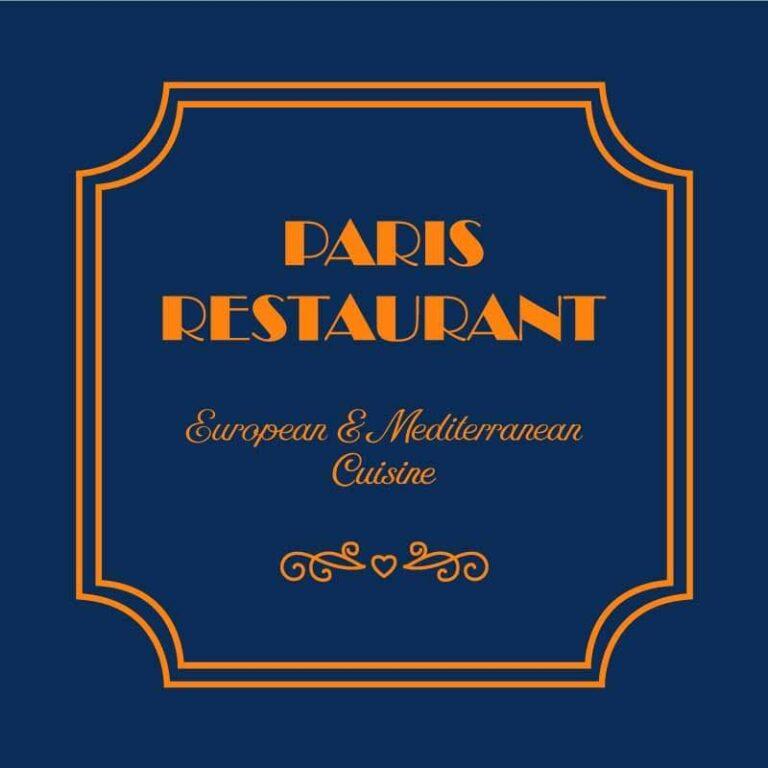 Paris Restaurant European and Mediterranean Cuisine