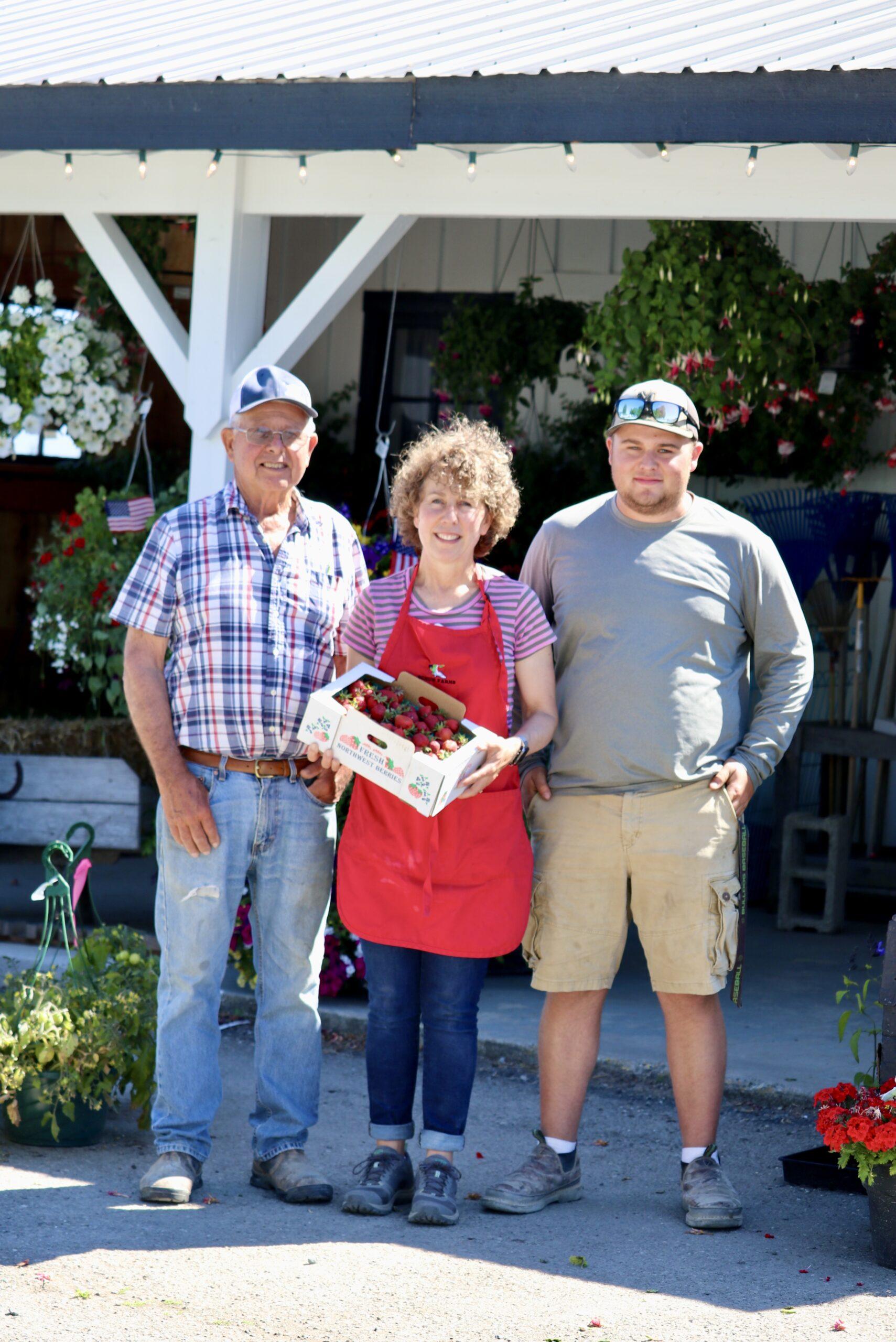 The Schuh Farms family in the Skagit Valley, Washington
