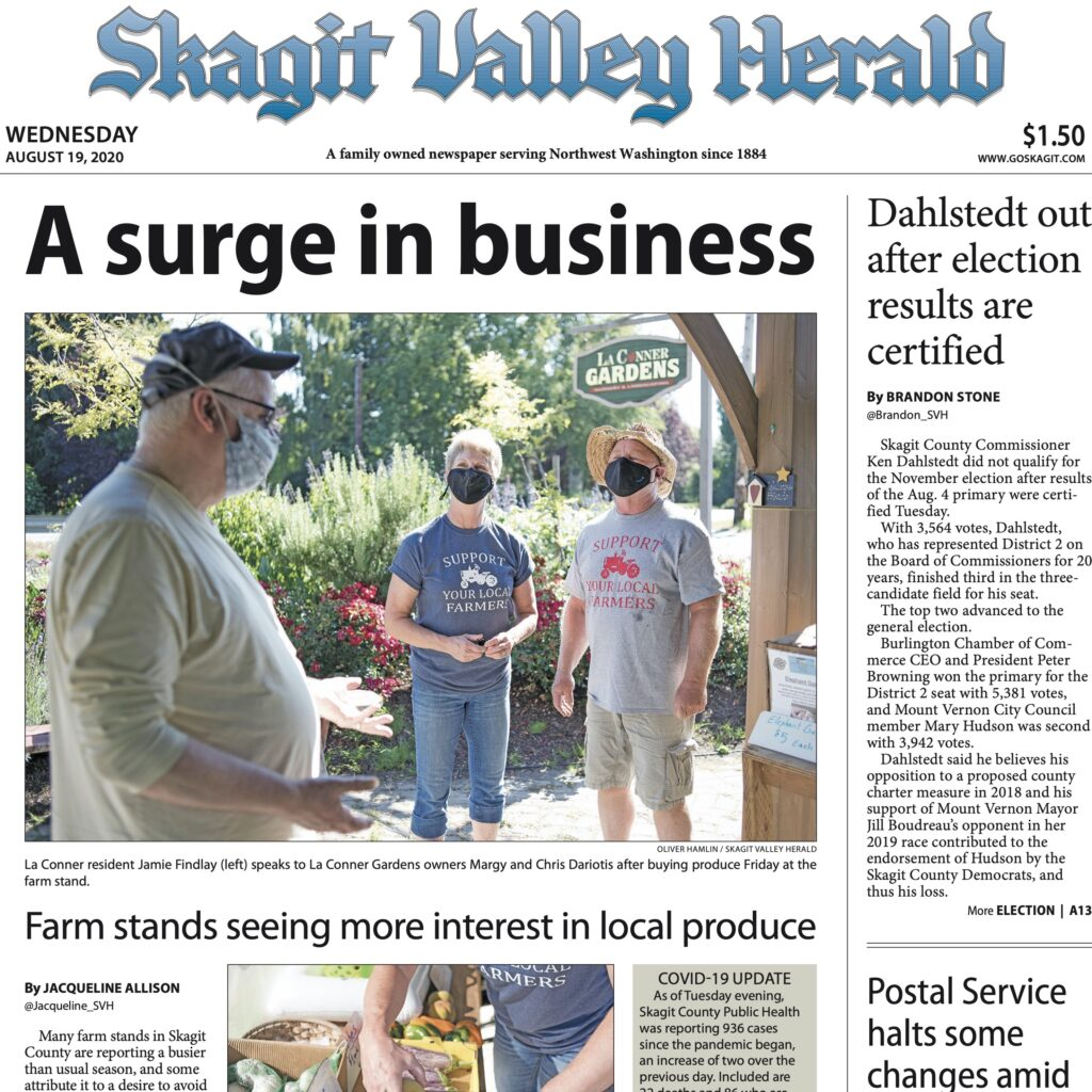 Skagit Valley Herald featuring La Conner Gardens