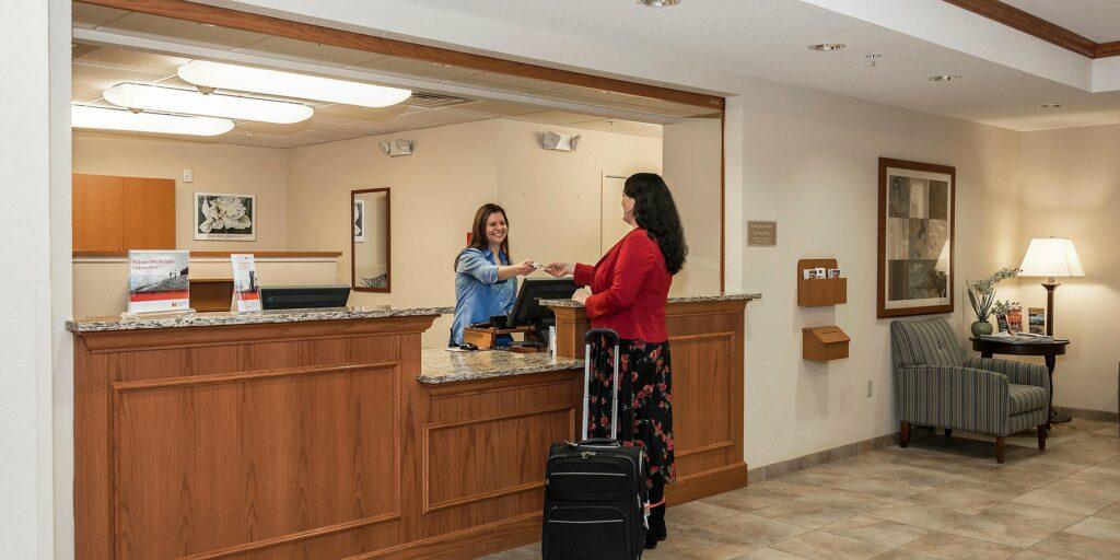 lobby of Candlewood Suites in Burlington Washington